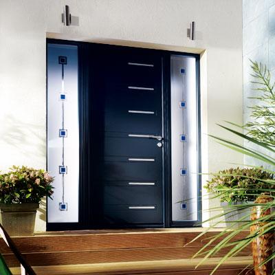 Porte pvc alu et porte en bois porte sur mesure artisan - Grande porte d entree ...